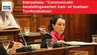 Communicatie over herstellingswerken tram/busbaan Turnhoutsebaan