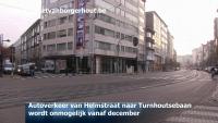Autoverkeer van Helmstraat naar Turnhoutsebaan wordt onmogelijk vanaf december
