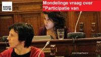 """Mondelinge vraag: """"Participatie jongeren"""""""