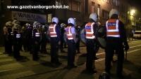 Zware rellen in Van Kerckhovenstraat