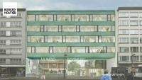 B-Architecten ontwerpt een omgekeerd U-vormig gebouw vóór EcoHuis