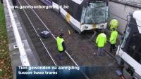 Tien gewonden bij ongeval met twee trams