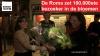 Ivette Brusselmans krijgt als 100.000ste bezoeker van de Roma een ruiker bloemen