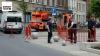 Politie plaatst nadar barelen rond Sint-Janskerk in Borgerhout (foto lucvd)
